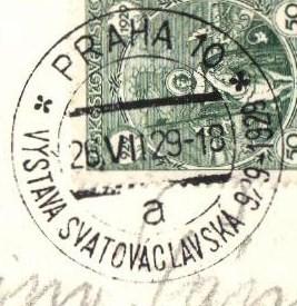 1929 Praha 10  VÝSTAVA SVATOVÁCLAVSKÁ (29/014)