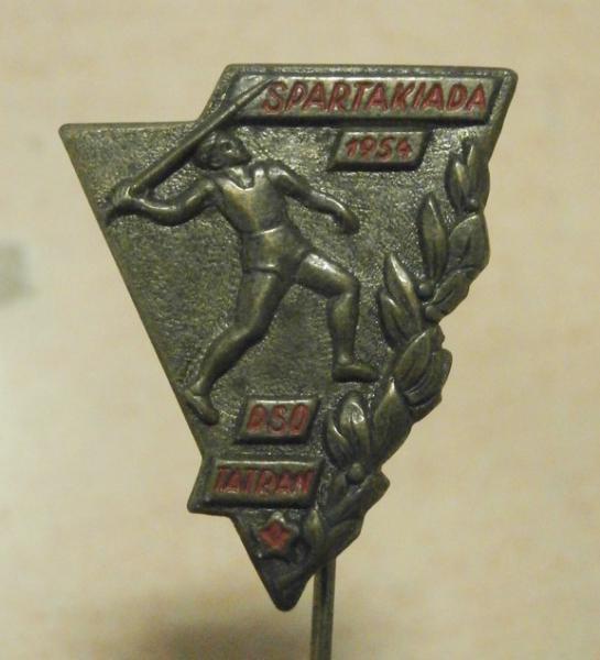 Odznak Spartakiáda Tatran 1954