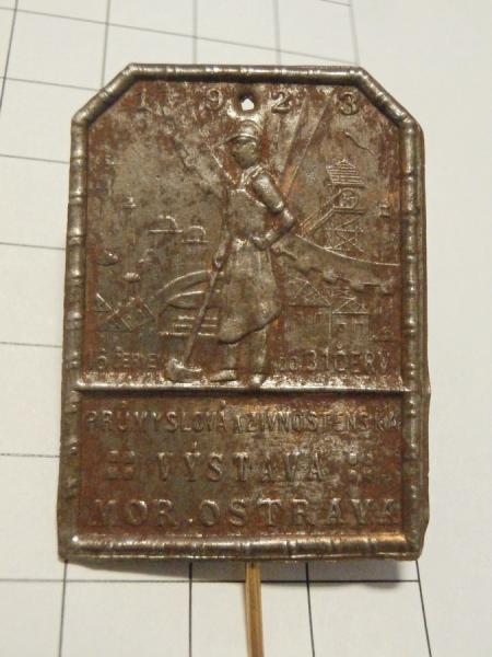 Odznak Mor. Ostrava, živnost. výstava 1923
