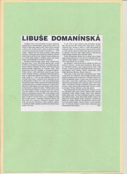 Bankovka Libuše Domanínská