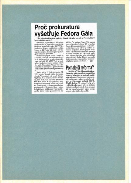 Autogram Fedor Gál