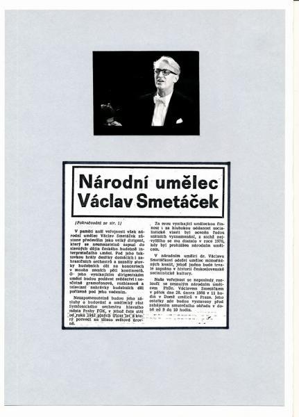 Autogram Václav Smetáček