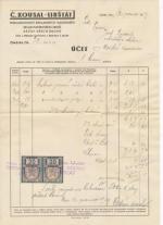 Č.Kousal - Libštát (Semily) sklad sáčků a papírového zboží,Nakladatelství reklamních kalendářů