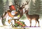 Sněhulák a zvířatka