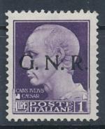 1943 / Itálie, Militarpost-Marken,G.N.R. Mi *10 I