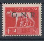 1943 / Itálie, Militarpost-Marken,G.N.R. Mi *16 I