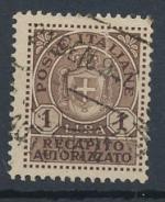 1945 / Itálie, Gebuhrenmarken Mi 6 raz.