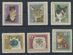 1967 Bulharsko Mi 1717/22 kočky
