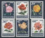 1985 Bulharsko Mi 3373/78 květiny