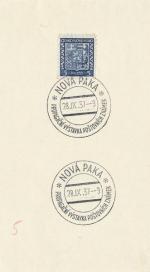 1937 PR 37/143 NOVÁ PAKA propagační výstava poštovních známek