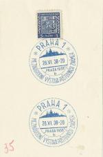 1938 PR 38/67 PRAHA1  Mezinárodní výstava poštovních známek