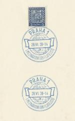 1938 PR 38/79 PRAHA1  I. Mezinárodní den filatelistů