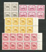 1919 Fiume - Mi **74/77, 79