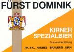 Fürst Dominik - Kirner Spezialbier
