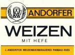 Andorfer Brauerei - Weizen mit Hefe