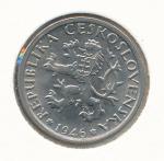 1946, 1 Kčs - koruna 0/0