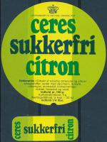 Sukkerfri Citron - Ceres