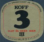 Koff 3 Bier - Helsingfors