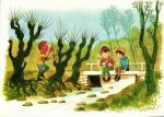 Velikonční - děti u potoka