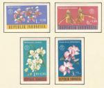 1962, Indonésie Mi *376/9 flora