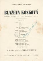 Autogram - Blažena Kosková