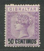 1889, Gibraltar Mi-*20