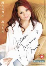 Autogram Magda Malá