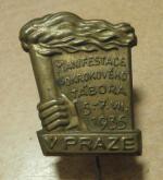Odznak Manifest Tábora, Praha 1935
