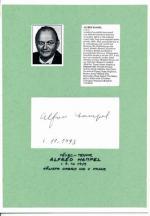 Autogram Alfréd Hampel