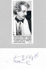 Autogram Pavel Dostál