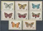 1962, Bulharsko Mi-**1339/46 motýli